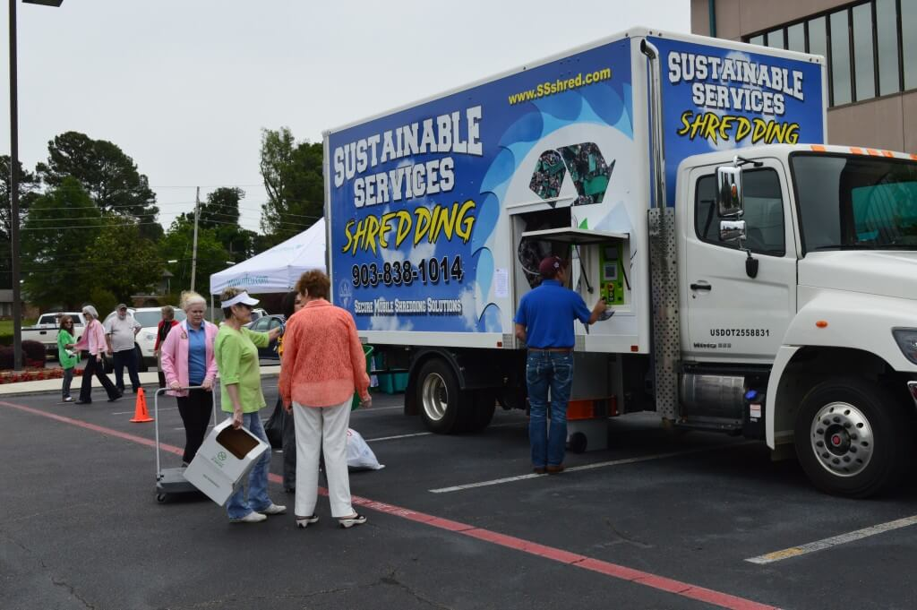 Sustainable Services Shred Day - Shredding Truck
